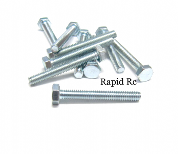 M4 x 30mm Hex Head High Tensile Hex Bolts
